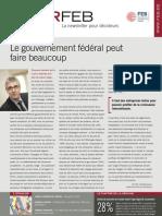Le gouvernement fédéral peut faire beaucoup, Infor FEB 25, 19 juillet 2012