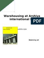 Warehousing at Arshiya Ineternational Ltd