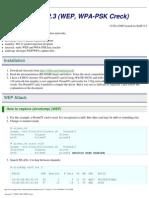 Aircrack 2.3 (WEP, WPA-PSK Creck)