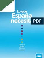 Programa electoral del PP - Lo que España NECESITA
