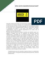¿Cuál es la misión real de Amnistía Internacional?