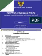 Draft Kerangka Regulasi Migas