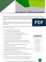 Gen x Gen y Training Outline