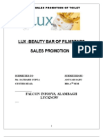 62968915 Project on Sales Promotion of LuxANU SaHU