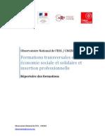 Répertoire formations ESS CNCRES 2012