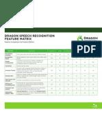 Dragon Speech Recognition Feature Matrix