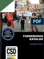 Forderungskatalog - Christopher Street Day (CSD) Stuttgart 2012