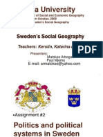 Matokeoism - Swedish Geography Politics and Political System in Sweden (7101444)