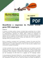 Benefícios a empresas da Paraíba devem gerar 900 empregos