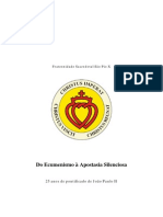 FSSPX-Do Ecumenismo a Apostasia Silenciosa
