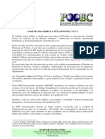 Comunicado sobre la situación del Cauca