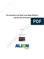 The Economic Low Road - Low-Wage Workers and the One-Percenters