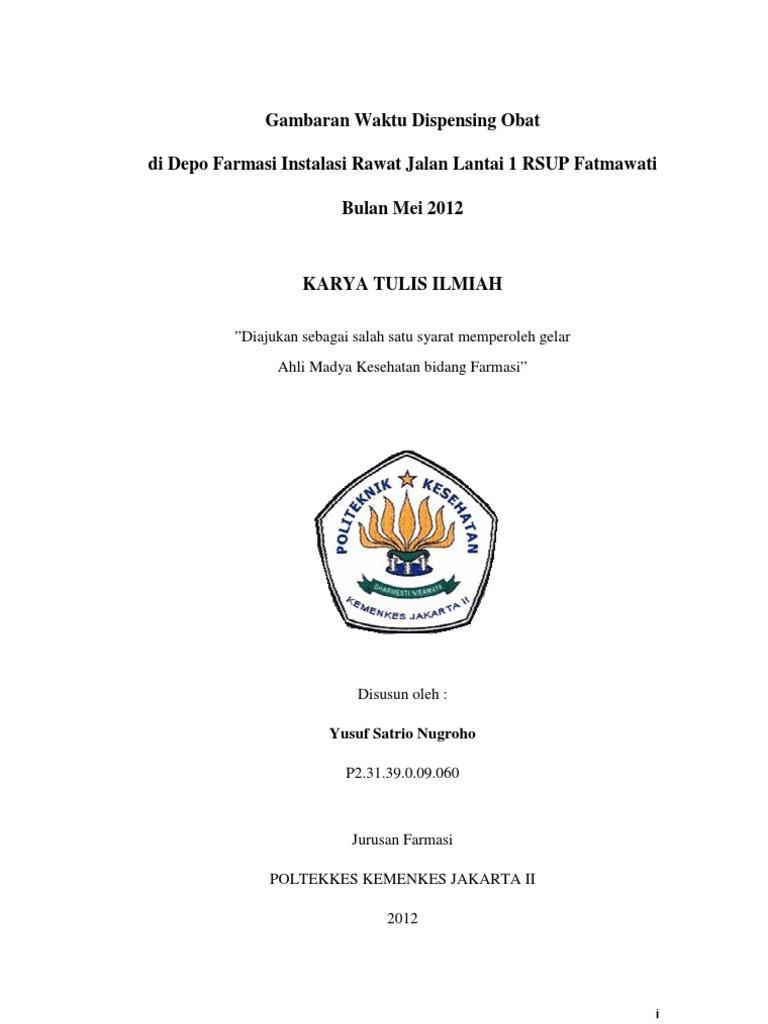 Kti Yusuf Satrio Nugroho Poltekkes Kemenkes Jakarta Ii 2012