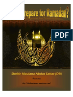 How to Prepare for Ramadan by Sheikh Maulana Abdus Sattar (DB)