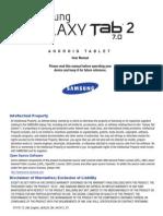 Generic Wi-Fi GT-P3113 Galaxy Tab 2 English User Manual LD3 F3