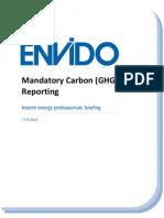 Mandatory Carbon Reporting Interim Advisory Briefing