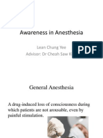 Awareness in Anesthesia Finalised