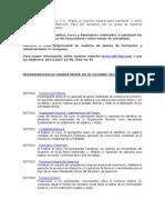 SOFTline Consultores Cursos Jul-Oct 2012