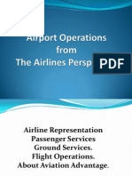 Airport Operation From the Airlines Persepctve