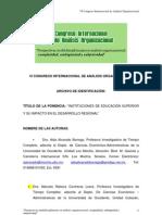 Analisis Organizaclonal Desarrollo Regional