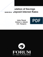 Deregulation of Savings Banks' Deposit Interest Rates - Usha Thorat, Kishori Udeshi, S. S. Tarapore