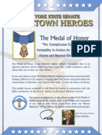 """HONORING OUR 'HOMETOWN HEROES:"""" Senator Patty Ritchie's Medal of Honor Heroes Highway Project"""