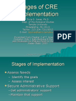 Stages of CRE Implementation Tricia S. Jones, Ph.D. Dept.