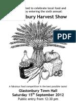 Harvest Show Programme A5