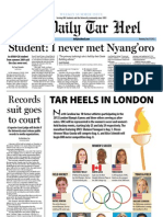 The Daily Tar Heel for July 19, 2012