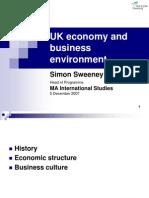 Uk Economy and Environment