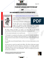 Principles of Ancient African Constitution Law