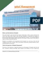 Hospital Management. Dr. Bashaar