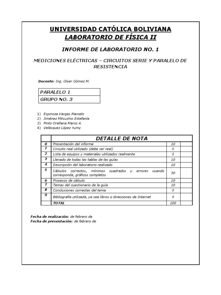 Circuito Serie Y Paralelo : Lab mediciones electricas circuito series y paralelo de resistencias