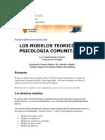 Psicología OnlineArtículosGestión 2004Los modelos teóricos en Psicología Comunitaria