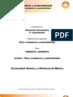 Unidad 1. Etica Ciudadania y Sustentabilidad
