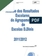 Relatório Final dos Resultados Escolares do Agrupamento 2011-2012