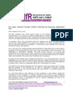 NfR Statement -Internet Freedom Restriced