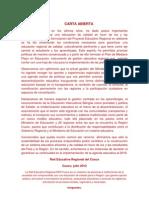 Carta Abierta Julio 2012- RER-CUSCO