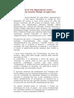 Documento Sintesi Incontro 07102012 Def