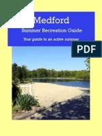 Medford Summer Recreation Program Guide Updated July 19, 2012