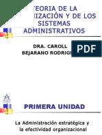 Teoria de La Organizacion y de Los Sistemas Adminsitrativos