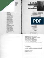 Casullo Nicolas El Debate Modernidad Posmodernidad