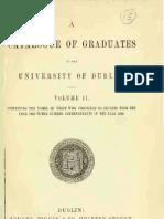 Graduates of TCD 1868 - 1883