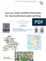 Hydrous Oxide Modified Electrodes for Electrohemical Water Splitting Tarragona 24 July 2012