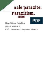 Animale parazite. Parazitism