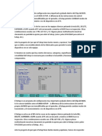 El SETUP es un programa de configuración muy importante grabado dentro del Chip del BIOS