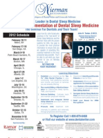 2012 Dental Sleep Medicine Courses