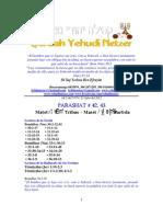 Parashat Matot-Masei # 42-43 Adul 6012