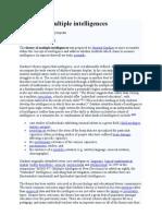 photo regarding Printable Multiple Intelligences Test called Basic principle of Several Intelligences Used Psychology