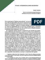 Espacio Kantiano Interpretaciones Recientes - Cabrera